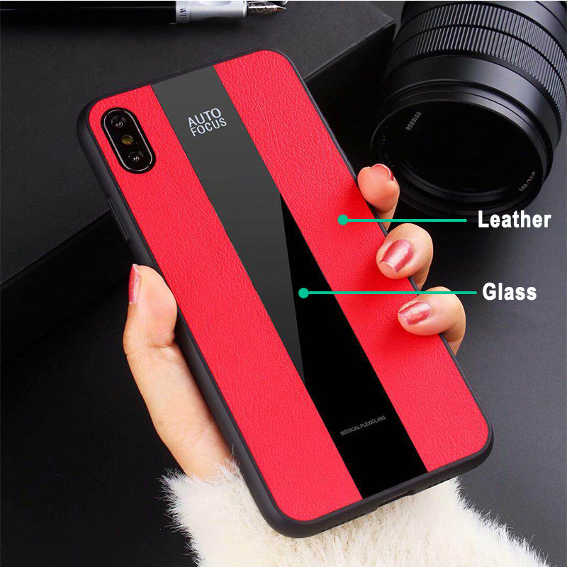 The case with soft cover is applicable to iPhone 6 6s 7 8 Plus coque Porsche genuine leather and XS Max XR X frosted