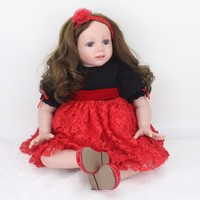 24 Inch Reborn Dolls 60 cm Silicone reborn baby Princess Girl toddler Doll For child Birthday Gifts bebes reborn bonecas