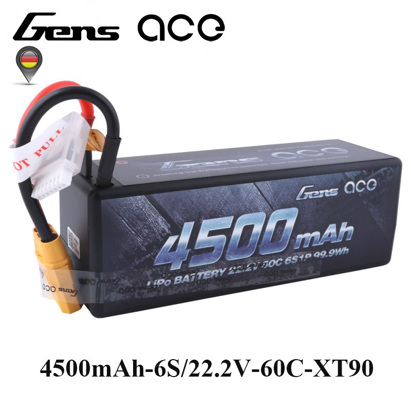 Gens ace Lipo Battery 22.2V 4500mAh Lipo 6S Battery Pack 60C-120C XT90 Plug Reliable Power for 1/8 1/10 Car Traxxas Slash бензиновая виброплита калибр бвп 20 4500