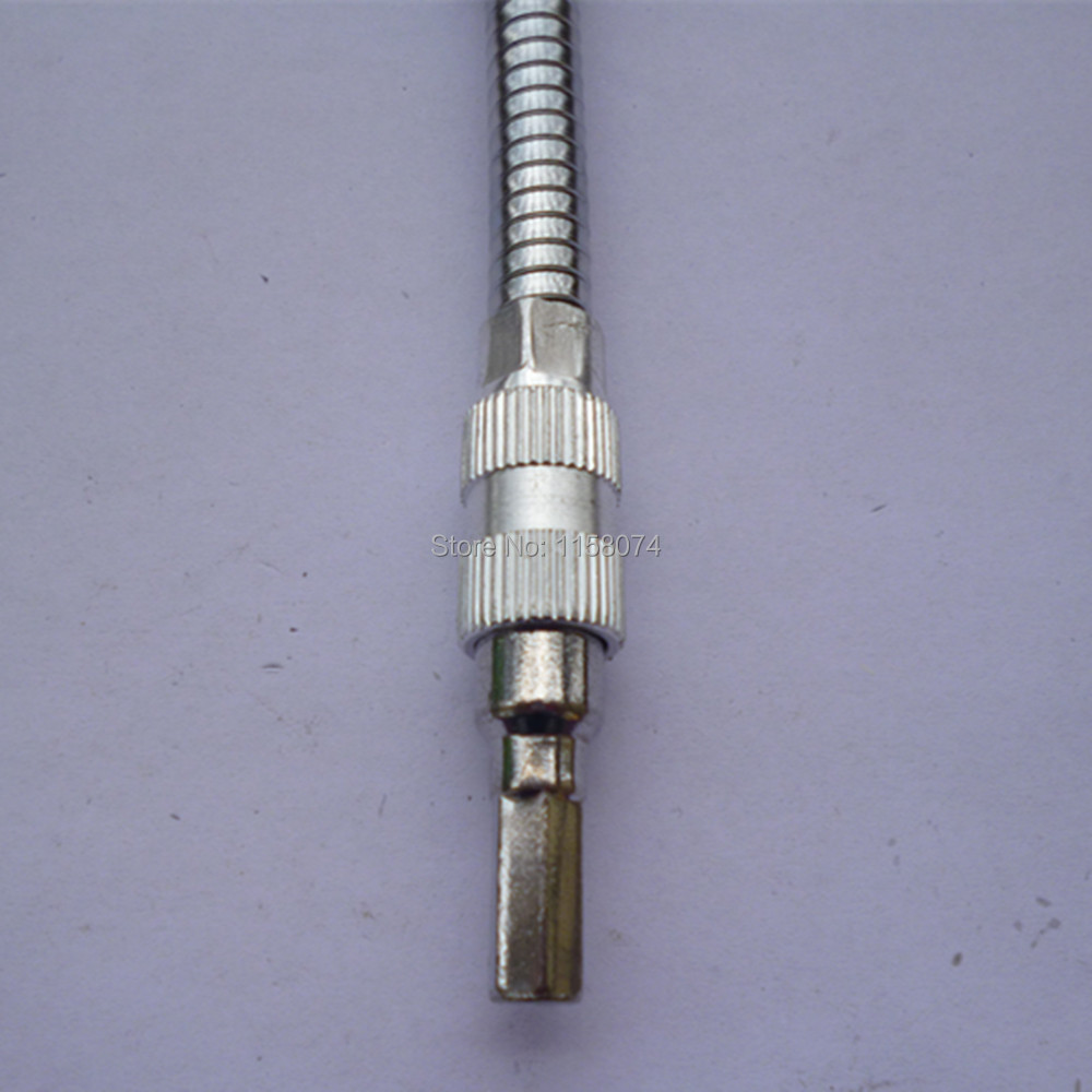 6.3mm Hex Shank Flexible Extension Screwdriver Bit 150mm Length Bendable Extended Magnetic Screw Driver Shaft Bit Tip Holder Rod