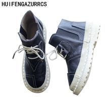 Кожаная обувь ручной работы careaymade женские ботинки мартинсы