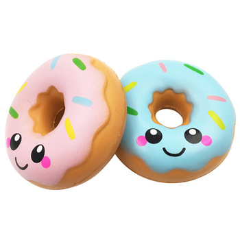 kawaii Doughnut Cream Scented Squishy donut Slow Rising Squeeze anti stress soft toy bread cute For Children's toys christmas squish slow rising kawaii ice cream peach toys for kid squishy slow rising soft animal squeeze toy squishy children anti stress