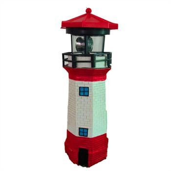 ソーラーガーデン灯台屋外庭の装飾装飾と耐久性のある Led 灯台回転ソーラーライト