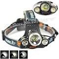 Discount!!5000 Lumen T6+2R5 Boruit Head Light Outdoor Camping Headlamp 4Modes Flashlight Lanterna by 2x18650(Only Headlamp)