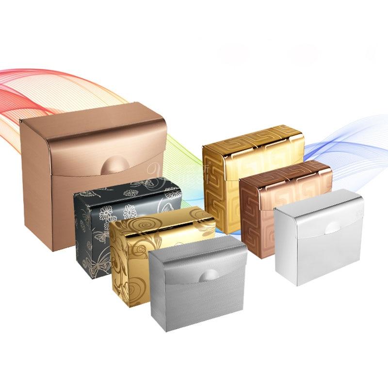 Supports adhésifs de papier toilette d'acier inoxydable fixés au mur de salle de bains supports de papier hygiénique support étagères papier de porte-serviettes de salle de bains
