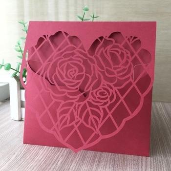 100pcs/lot Elegant Laser Cut Personalized Wedding Card Invitations 2019 Birthday Party Invitations Card Greeting Card