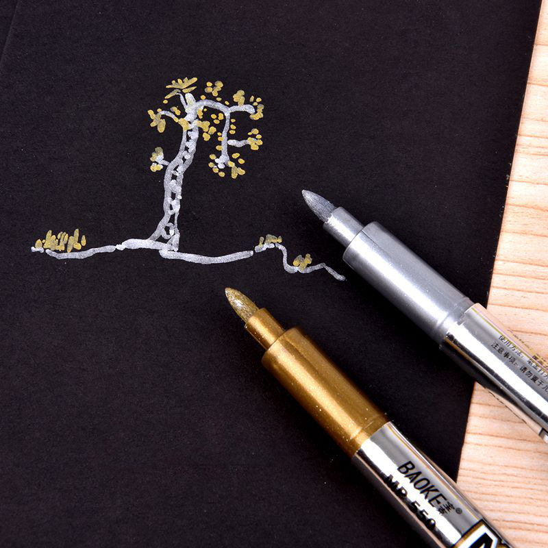 Metallic Color Pen DIY Album Scrapbooking Invitation Card Photo Marker Pen Stationery Papelaria School Supplies