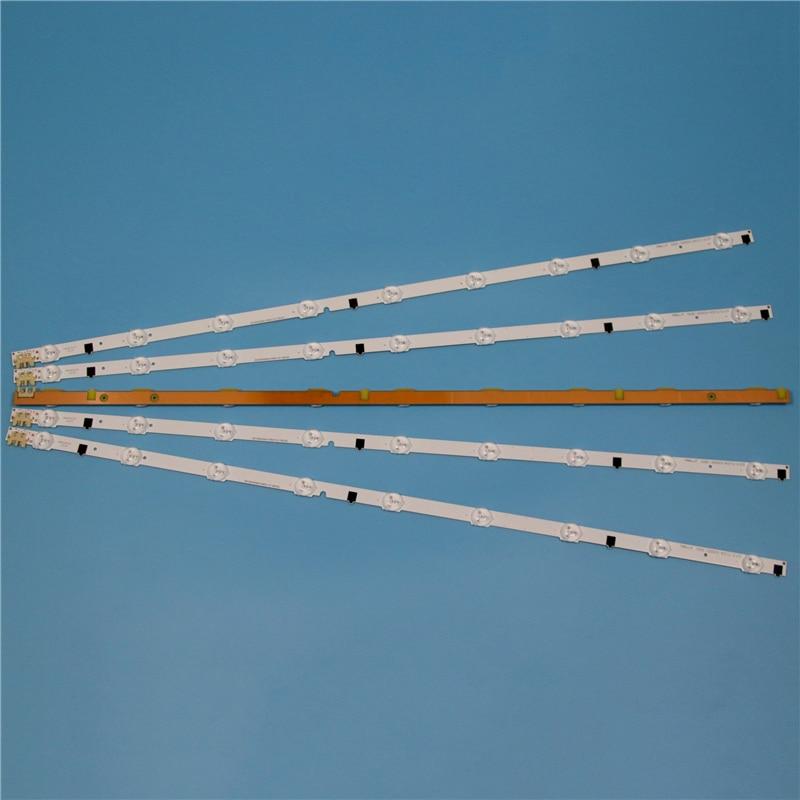 Image 5 - 9 лампы светодиодный Подсветка полосы для samsung UA32F5000AR UA32F5100AR UA32F5300AR UA32F5500AR UA32F6100AR набор палок Телевизор со светодиодом на ремнях