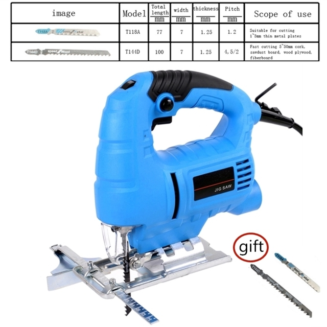 710w 6 Speed Adjustable Electric Curve Saw Woodworking Electric