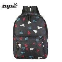 AEQUEEN Printing Backpack Women Casual Canvas Backpacks School Bags For Teenage Girls Travel Bag Laptop Backpack