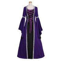 여성 고딕 르네상스 중세 드레스 빈티