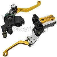 Motorcycle 7 8 22mm Brake Master Cylinder Reservoir Levers For Honda CRF450X CRF 150R 250R 450R