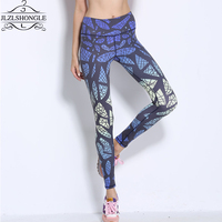Ropa Deportiva Mujer Gym 2016 New Style Bird S Nest Pattern Printed Sport Leggings Running Fitness