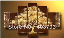 MODERN ABSTRACT HUGE WALL ART OIL PAINTING ON CANVAS  abstract rich tree for office free shipping