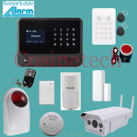 Original IOS Android APP Wifi Gprs Gsm Home Security Alarm System With Waterproof Wifi IP Camera