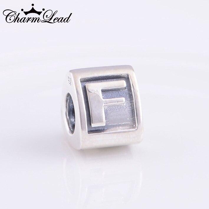Pandora Alphabet Charm F Silver