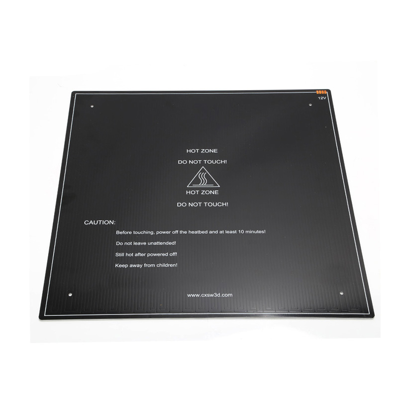 3D Printer Parts black MK3 hotbed Aluminum heated bed for CR-10 Hot-bed 12V 410x410x3mm option cr10 310 310 410 410 510 510 3mm heatbed upgraded mk3 12v heated bed aluminum for cr 10 cr 10s cr 10 s5 3d printer hotbed parts