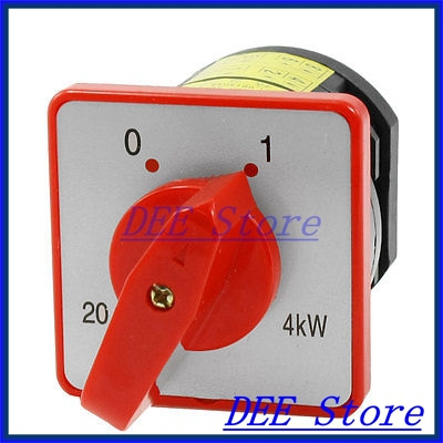 AC 380V 20A 2 Position On/Off Rotary Universal Changeover Switch HZ5-20/4 L03 load circuit breaker switch ac ui 660v ith 100a on off 3 poles 3 phases 3no 2 position universal rotary cam changeover switch