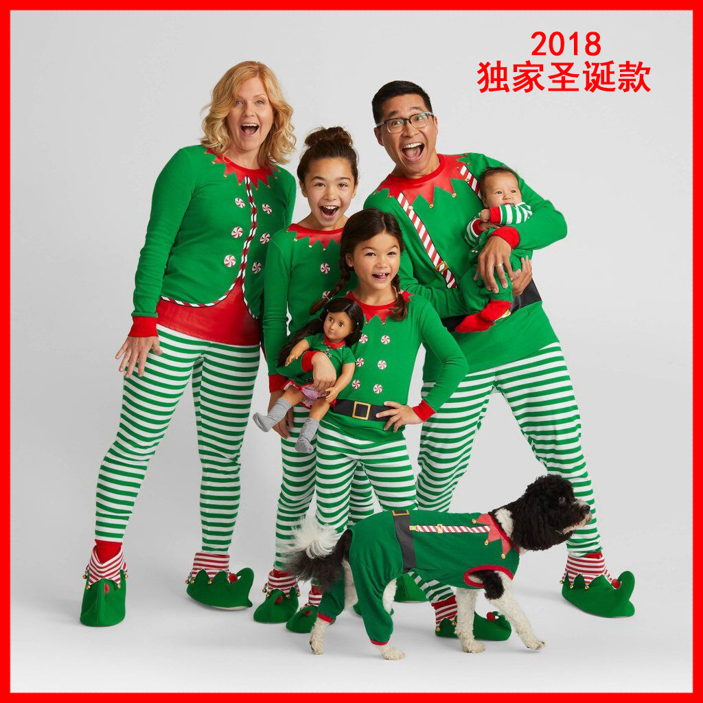 Matching Family Christmas Pajamas.Us 8 74 19 Off 2018 New Family Christmas Pajamas Dad Mother And Daughter Son Baby Matching Outfits Clothes Family Look Christmas Pajamas Family In