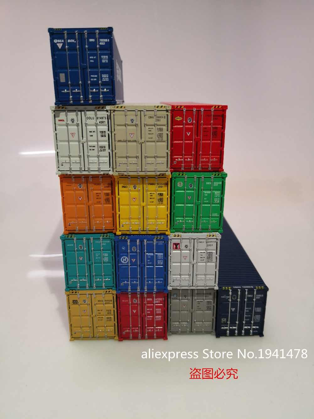 1/87 Exquisite Model Train Ho Scale 40GP Container DIY