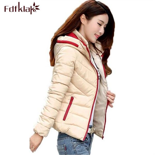 Fdfklak 2017 New Winter Coat Women Plus Size L XL XXL 3XL 4XL Short Slim Outwear Warm Hooded Down Cotton Parkas For Women Q445