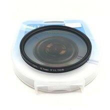 캐논 니콘 DSLR 카메라 렌즈 용 CPL 원형 편광판 카메라 필터 52mm/55/58/62/67/72/77/82mm