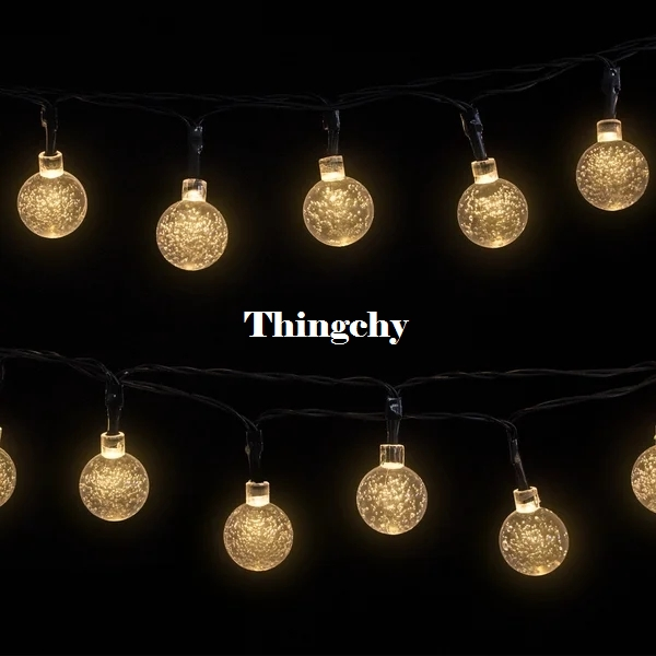 10M 50LED Globe String Light Crystal Bubble Balls Sovrum Heminredning Dekorativa Lampor Julbröllop Garland Decoration