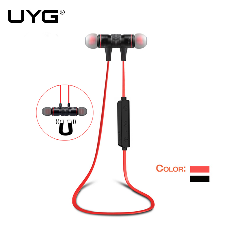 UYG M9 Bluetooth Earphone Sport stereo music wireless earphones and headphones bluetooth headphone with Microphone for phone aipal wireless headphones bluetooth 4 2 stereo headset earphone and microphone for music wireless bluetooth headphone