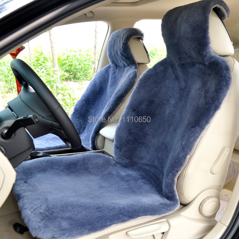 1 pc car seat covers For Front seat,Cushion Wool Interior Accessories Safety FOR Lada  Focus Kia   toyota Car 100% sheepskin