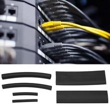 142Pcs Black Heat Shrink Tubing Wrap Cable Sleeve Shrinkable Tube Shrink Tube Sleeves все цены
