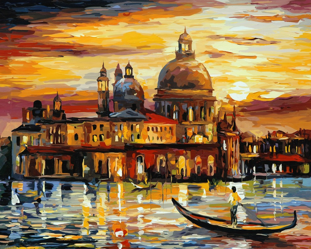 Frameless painting by numbers diy picture oil painting on for Modern paintings for home