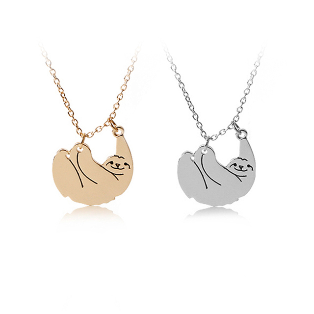 Movie Inspired Cute Animal lazy Tree Toed Sloth Pendant Necklace