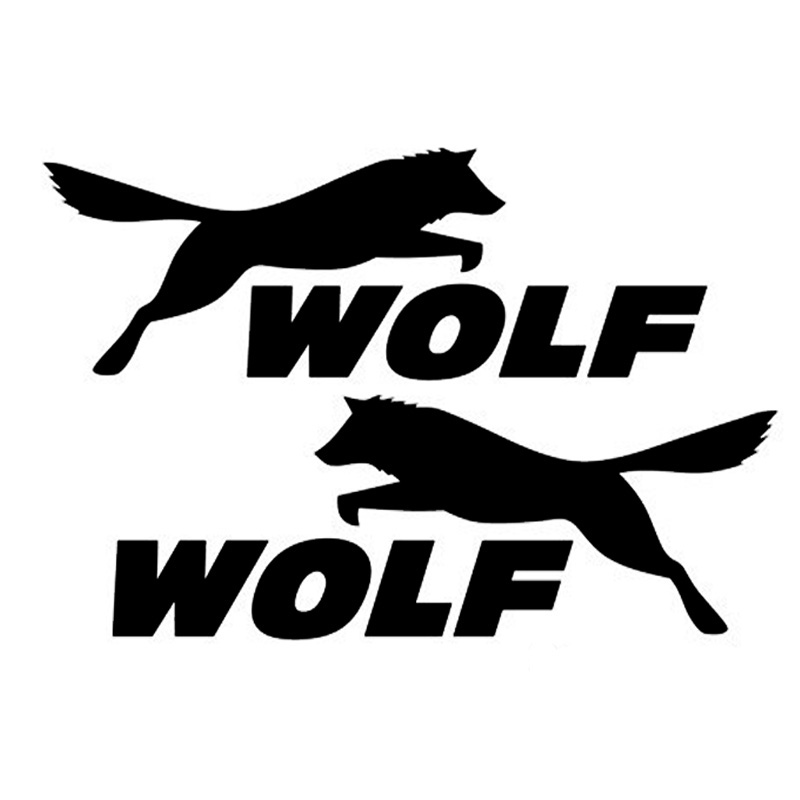 WOLF Wolf Car Stickers Rearview Mirror Sport Dogs Animal Sticker Black/Silver/Red CT-405