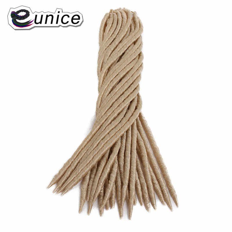 Eunice, мягкие дреды, волосы для наращивания, вязанные крючком косички, 18 дюймов, 24 пряди/упаковка, синтетические волосы для наращивания, пряди для женщин