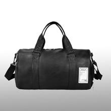 Wobag jakość mody torba podróżna kobiety czarne PU skórzane torby na siłownię bagaż podręczny dla mężczyzn worek marynarski