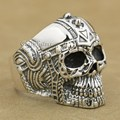 925 Sterling Silver Gothic Tattoo Skull Mens Biker Rocker Punk Ring 9G005 US Size 7 to 15