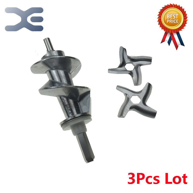 3Pcs Meat Grinder Parts Aluminum Meat Grinder Knife Meat Grinder Propeller #5 Blade Mincer Knife Fits Moulinex