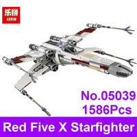 2017 LEPIN 05039 1586pcs Star Series Wars Red Five X Starfighter Wing Building Blocks Bricks Compatible
