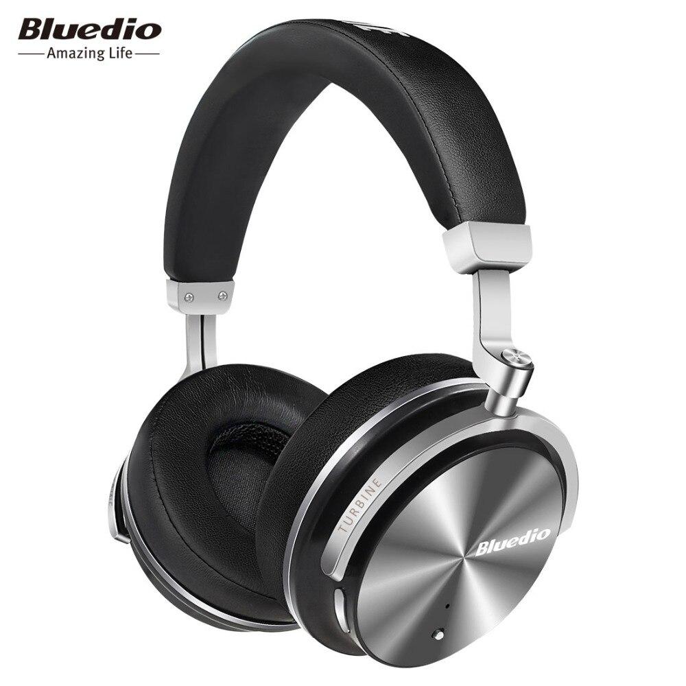 2017 Original Bluedio T4S bluetooth auriculares con micrófono ANC eliminación activa del ruido-auriculares inalámbricos
