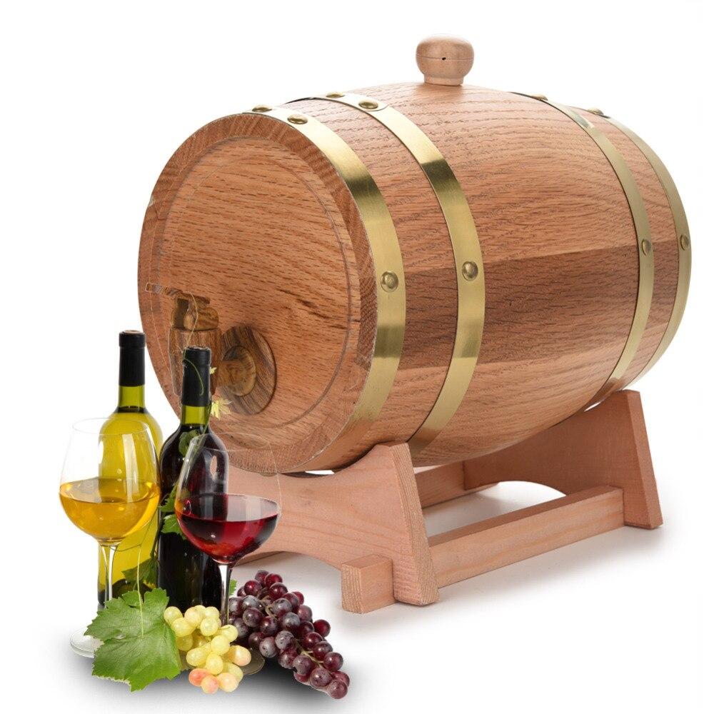 3L Vaatje Houten Vat Vintage Hout Eiken Hout Wijn Vat Biervaten voor Whiskey Rum Brouwen Poort Hotel Restaurant Decoratieve-in Bar sets van Huis & Tuin op  Groep 1