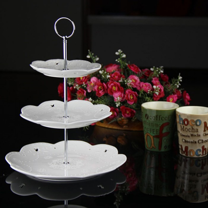 3 Tier Thicken metal Cake Stand(Plate Not Include) Dessert pastry tray Handle cupcake Fitting Hardware Rod party supplies-in Stands from Home u0026 Garden on ... & 3 Tier Thicken metal Cake Stand(Plate Not Include) Dessert pastry ...
