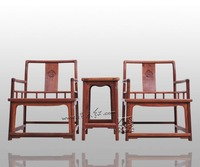 Furniture 3 Sets Asian China Retro Living Rome Coffee Fitment TWO Chair and ONE Tea Table Solid Wood Oriental Classical Rosewood