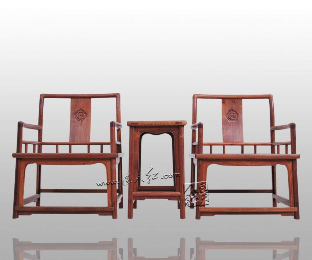 Furniture 3 Sets Asian China Retro Living Rome Coffee Fitment TWO Chair and ONE Tea Table Solid Wood Oriental Classical Rosewood classical rosewood armchair backed china retro antique chair with handrails solid wood living dining room furniture factory set