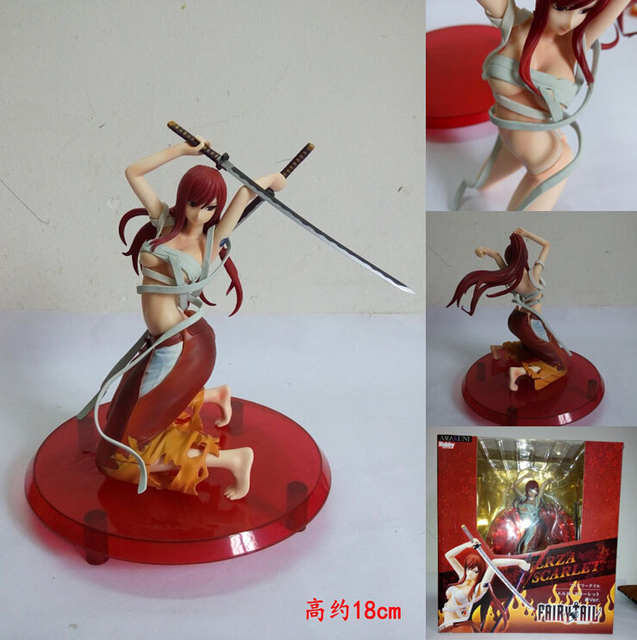 18cm Anime Fairy Tail Elza Scarlet Action Figure PVC Collection figures toys for christmas gift brinquedos with Retail box