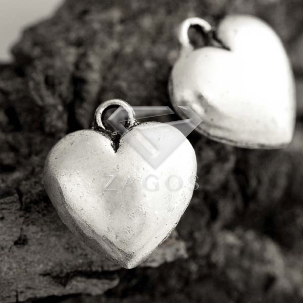 Rosa Corazón Colgante Plata Tibetana Dijes Paquete de 50