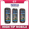 C7 Nokia teléfono celular móvil Abierto original GSM 3G WIFI GPS 8MP 8 GB de memoria interna garantía de 1 año Envío gratis reformado