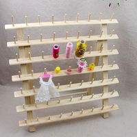 63 Pins Wooden Thread Rack / Thread Stand for Computer Machine Embroidery/sewing Thread 9 Pins* 7 Layers