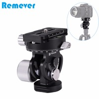 Portable two dimensional Gimbal Panoramic Tripod Head for DSLR Cameras Video Recording Photography Head with Quick Release Plate