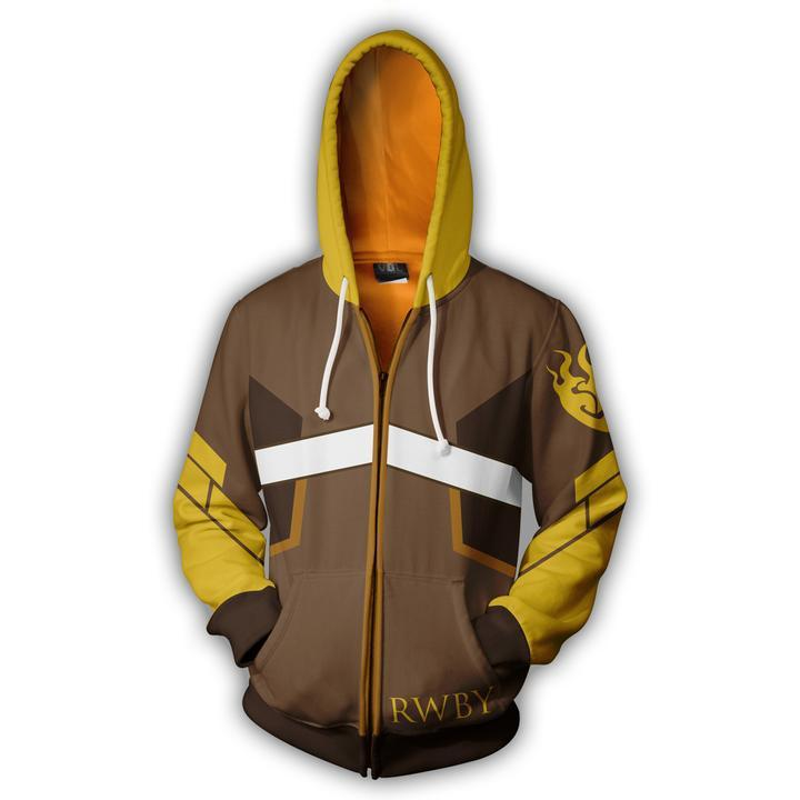 Anime RWBY Season 1 hoodie Sweatshirt Cosplay Costume zip up coat jacket NN.1012