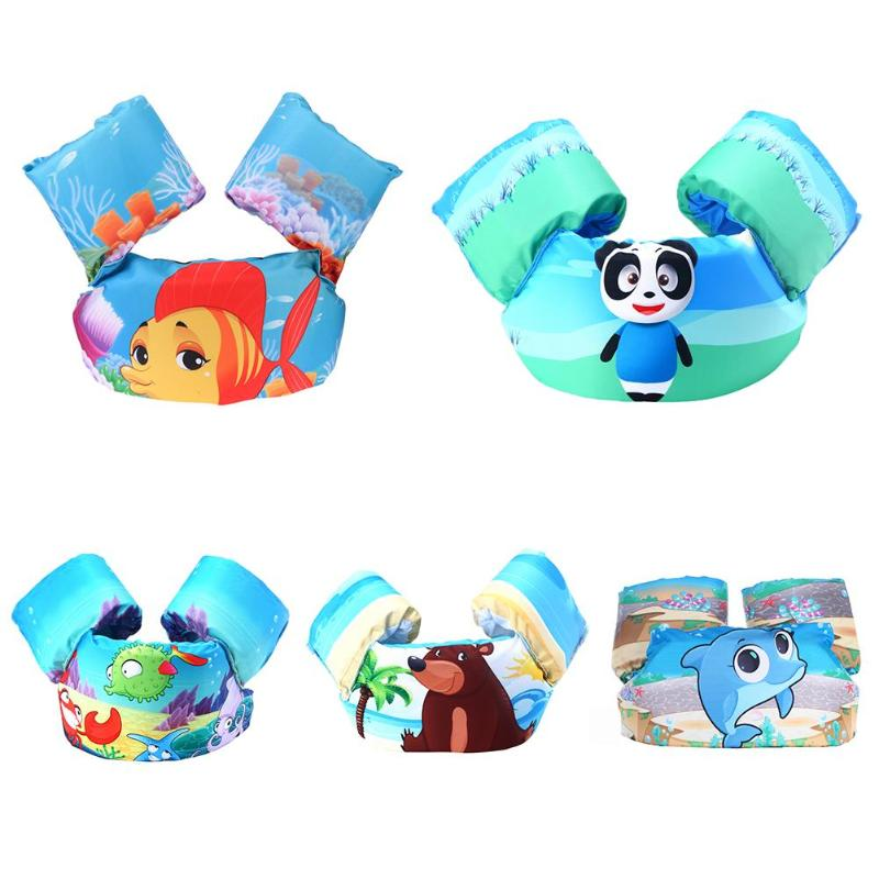 Kids Swimming Equipment Cartoon Arm Float With Belt Swimming Training Inflatable Ring 14-25kg Baby Swimming Pool Accessories